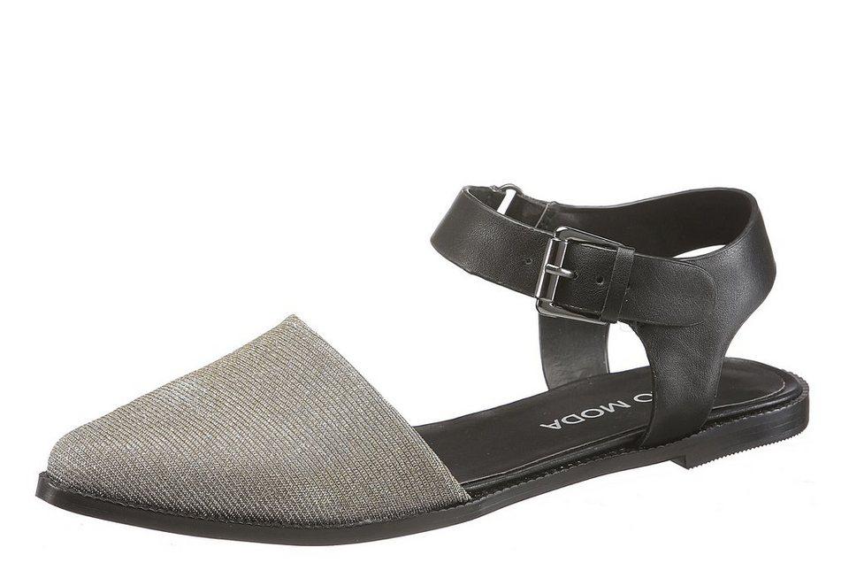 Vero Moda Sandale in silberfarben