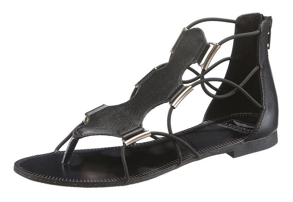 Arizona Sandale mit Elastikbändern in schwarz