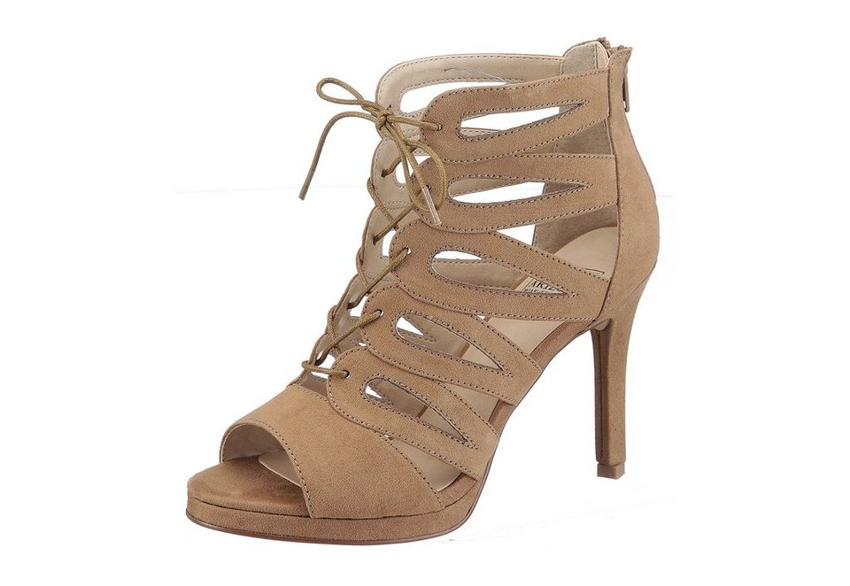 Arizona High Heel Sandalette in camelfarben
