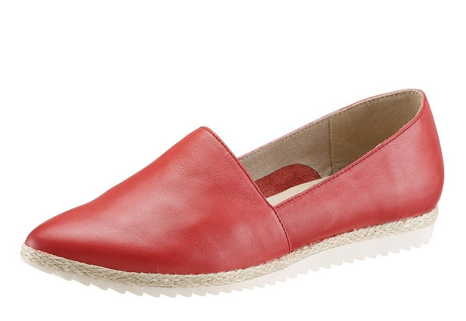 Tamaris Slipper im extravaganten Design in rot