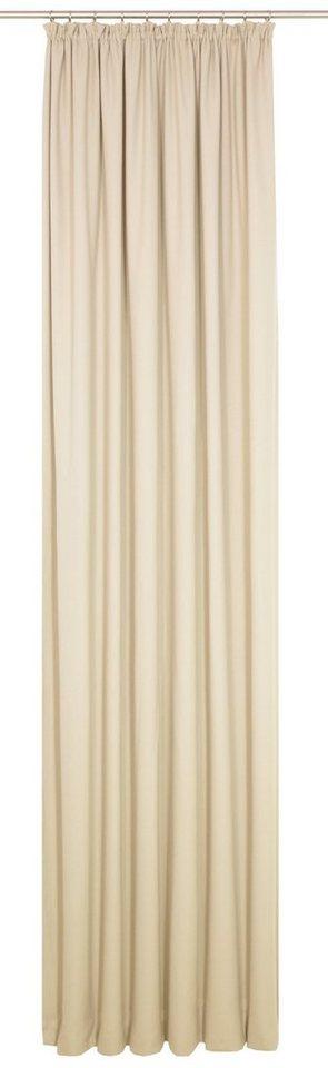 Vorhang, WIRTH, »WirthNatur«, 1-lagig (1 Stück) in beige