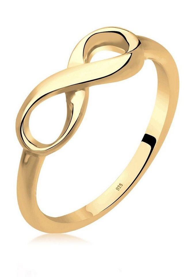 Elli Ring »Infinity 925 Silber vergoldet« in Gold