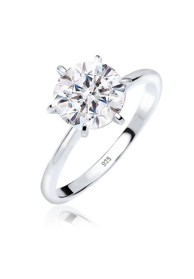 elli ring verlobungsring swarovski kristalle 925 silber online kaufen otto. Black Bedroom Furniture Sets. Home Design Ideas