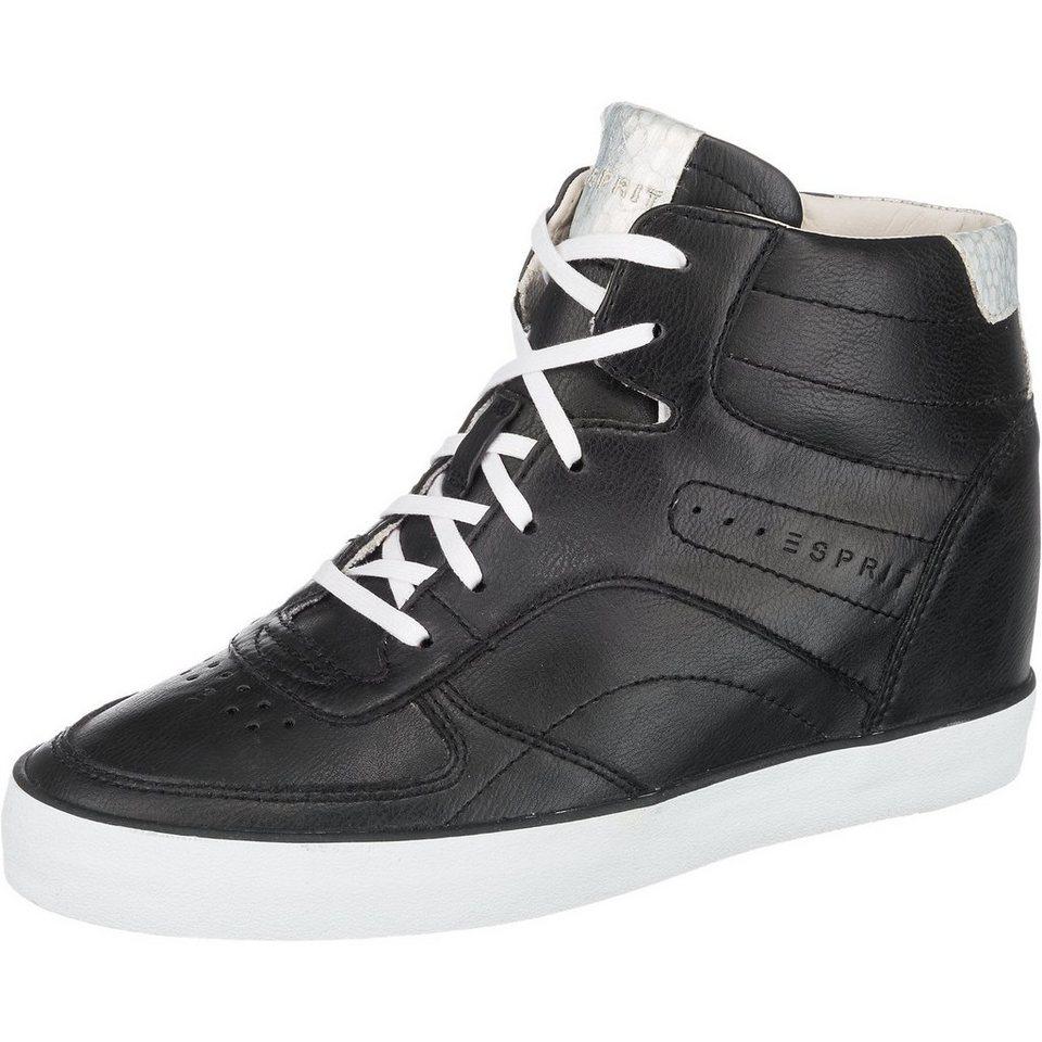 ESPRIT Star Wedge Sneakers in schwarz