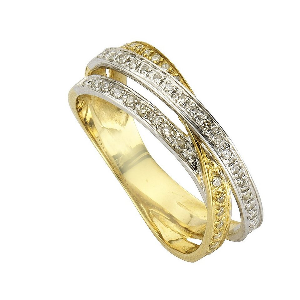 Diamonds by Ellen K. Ring »585/- Gold Diamant 0,24ct.« in gelb