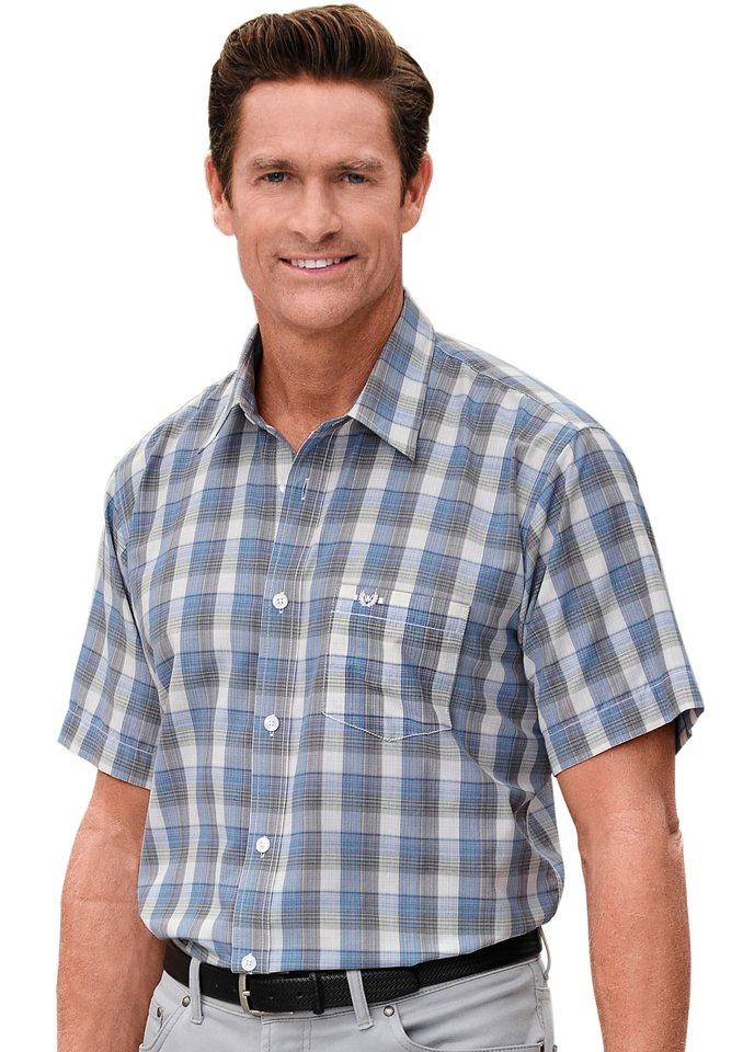 J. Witt Collection Hemd in blau-kariert