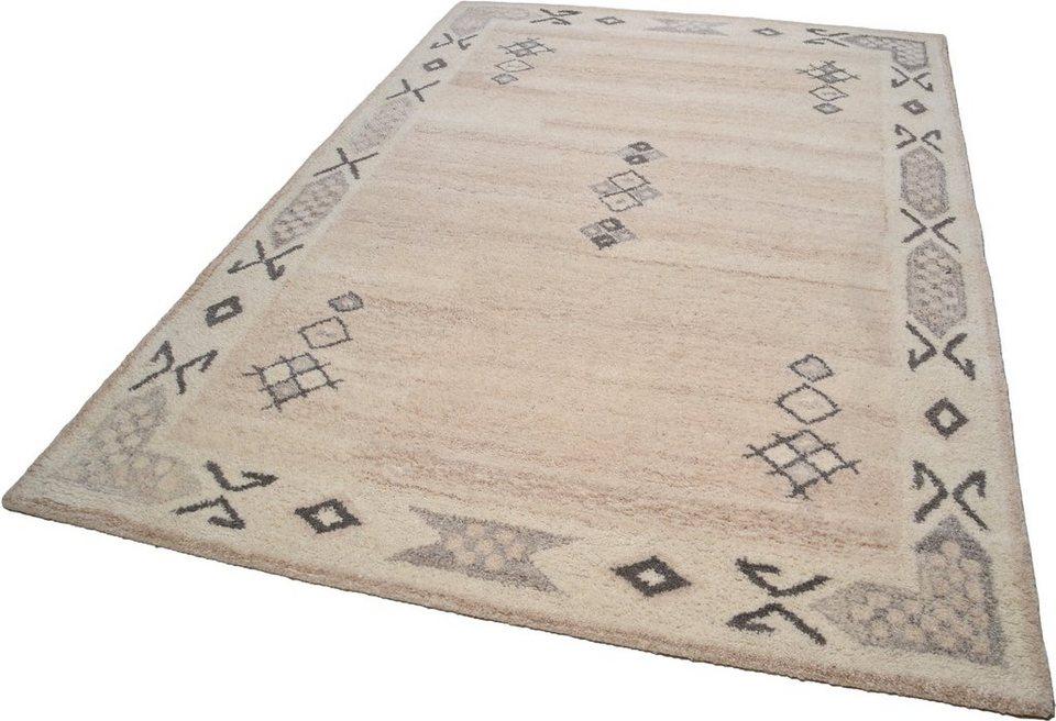 Teppich, Theko, »Royal Berber«, handgetuftet in creme