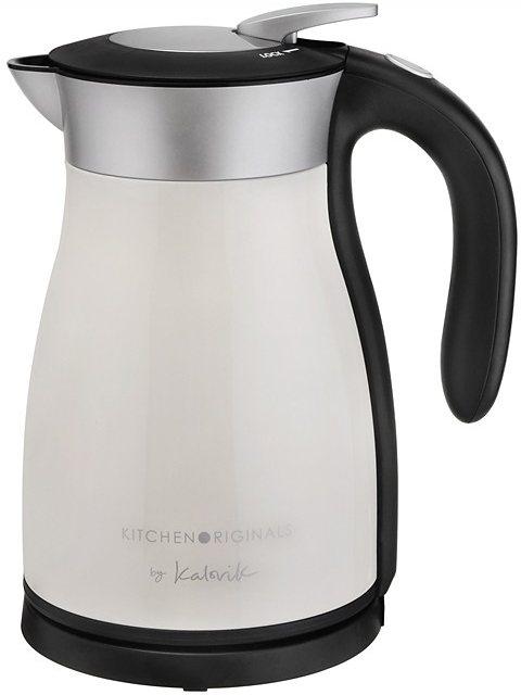 TEAM KALORIK Thermo-Wasserkocher JK 1034 KTO, 1,5 Liter, 1800 Watt, Creme-Schwarz in creme-schwarz