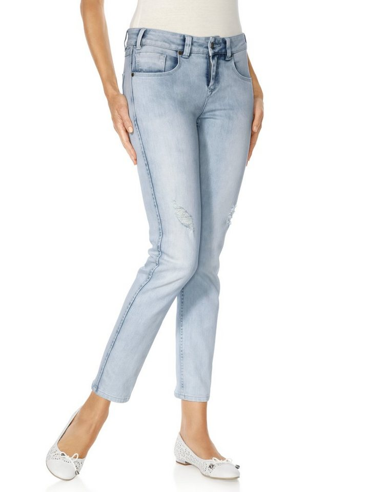 3/4-Jeans in bleached