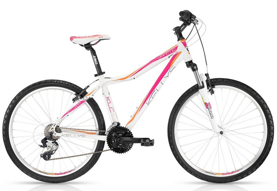 Kellys Damen Hardtail MTB, 26 Zoll, 21 Gang Shimano Kettenschaltung, »Vanity 10 Sunrise« in weiß-pink