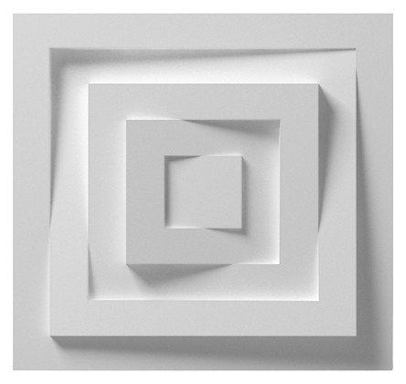Stuckrosette »Wand-Rosette« in weiß