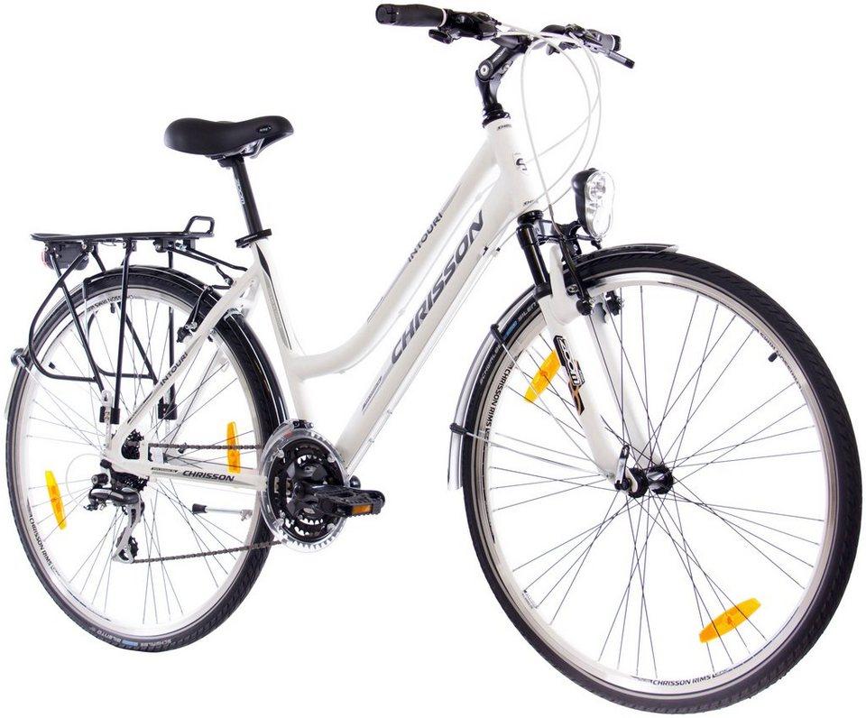Trekkingrad (Damen) »INTOURI LADY weiß matt, 71,12 cm (28 Zoll)« in weiß