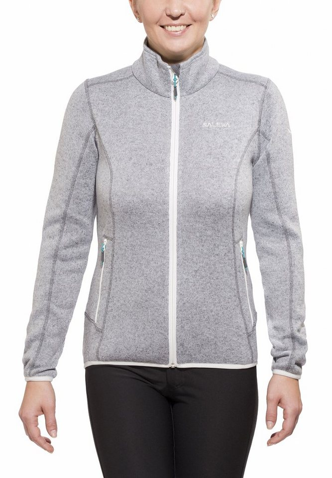 Salewa Outdoorjacke »Kitz 3 PL Jacket Women grey« in grau