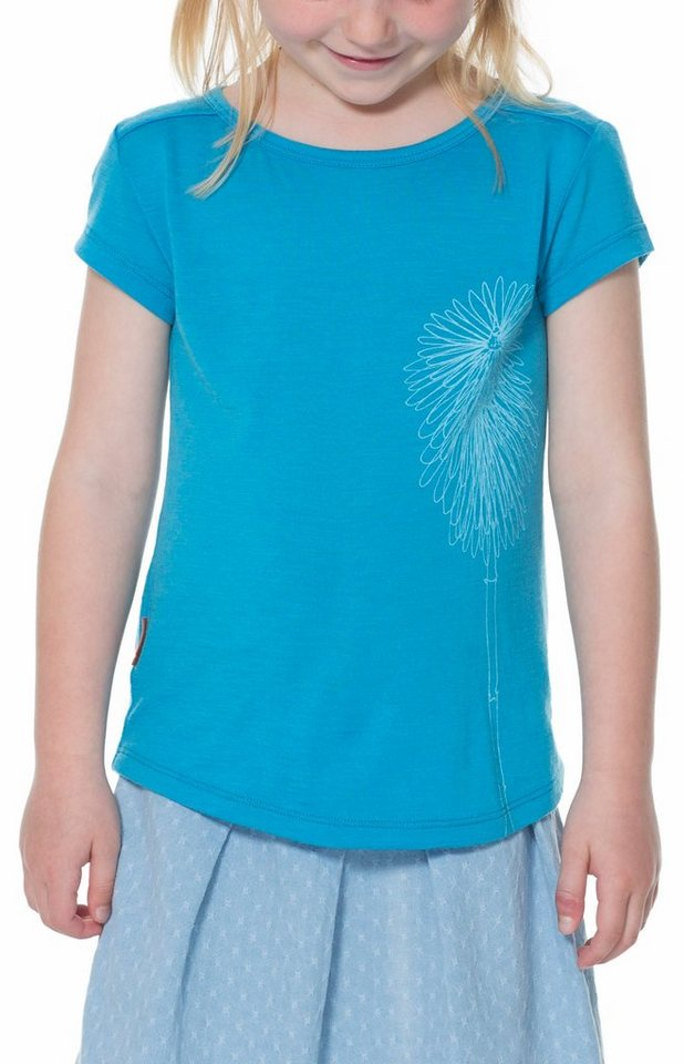 Icebreaker T-Shirt »Tech Lite SS Wildflower Kids« in blau