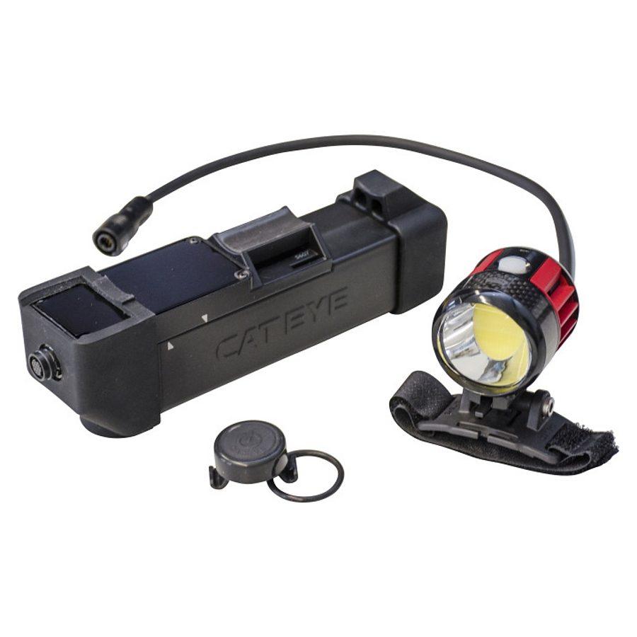 Cateye Fahrradbeleuchtung »Volt6000 HL-EL6000RCPL Helmlampe schwarz/rot«