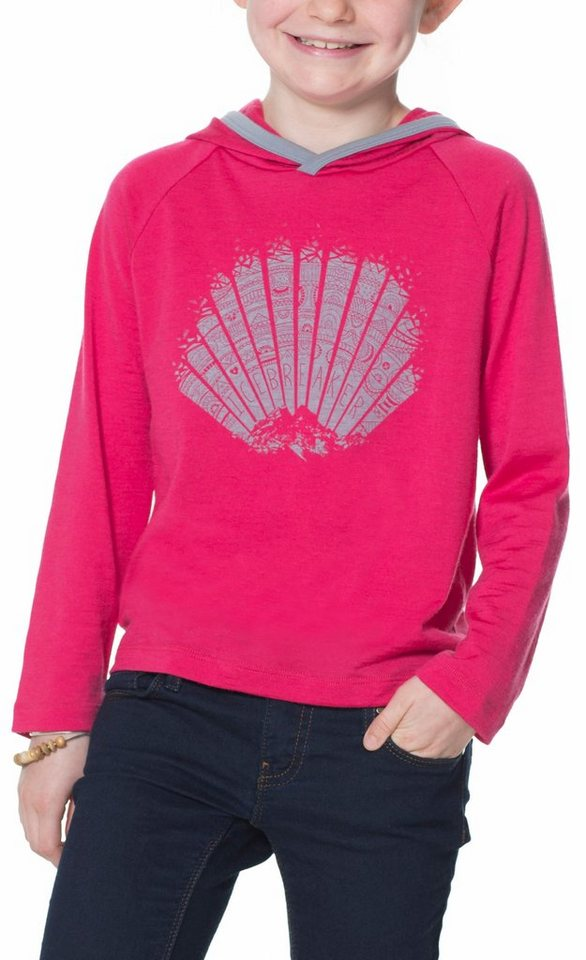 Icebreaker Pullover »Tech LS Hood Sunrise Kids« in pink