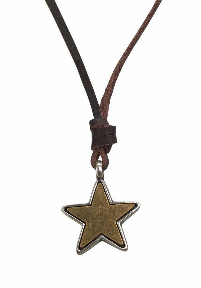 J. Jayz Kette mit Anhänger mit Stern in braun