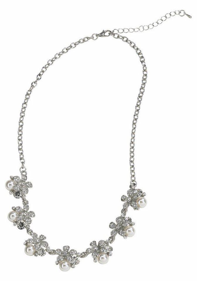 J. Jayz Kette »Mit Blüten und Zierperlen« in silberfarben