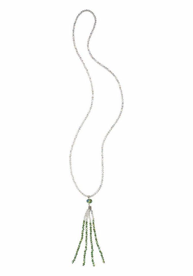 J. Jayz Kette »mit kleinen Zierperlen« in weiß-grün
