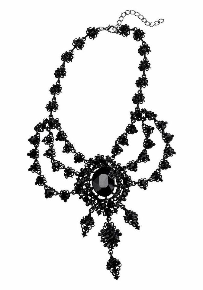J. Jayz Collier »mit glänzenden Schmucksteinen« in schwarz