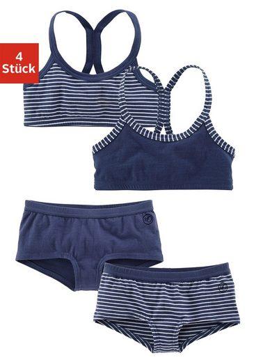 s.Oliver RED LABEL Bodywear Wäsche-Set: 2 Bustiers + 2 Panties (4-tlg.), sportlicher Look Racerback