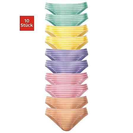 Slips (10 Stück), schöner Basicartikel in tollen Farben - passend für jeden Tag