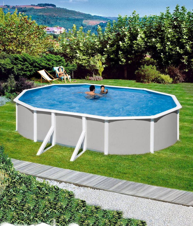mypool komplett set ovalpool 7 tlg pool mit breitem handlauf online kaufen otto. Black Bedroom Furniture Sets. Home Design Ideas