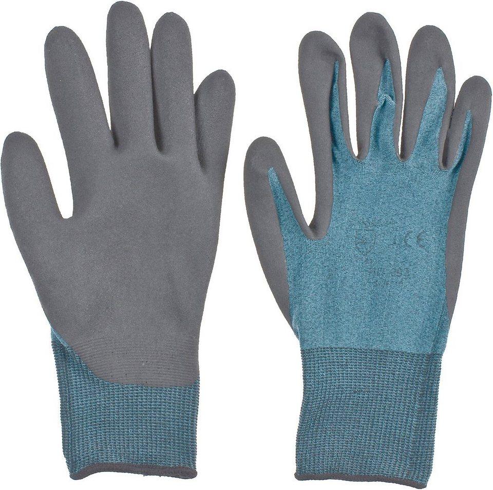 Handschuhe (3 Paar) in blau/schwarz