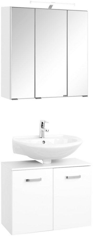 Badmöbel-Set »70«, Breite 70 cm, 2-tlg. in weiß