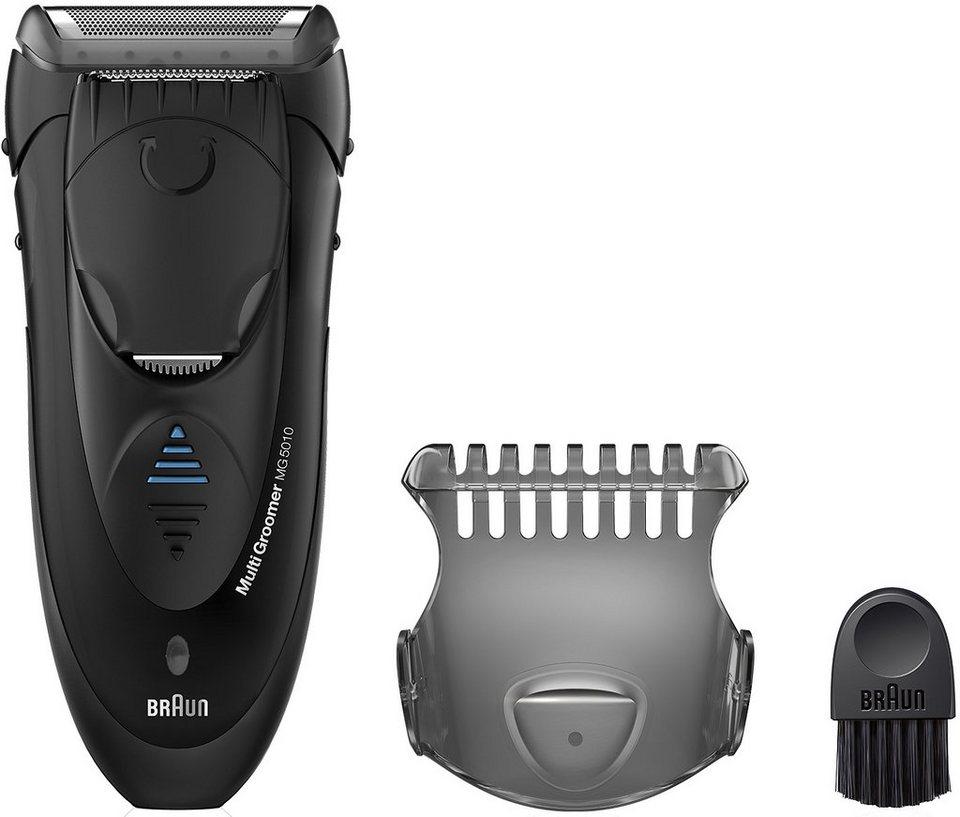 Braun Barttrimmer Wet&Dry Multigroomer MG5010, Akku in schwarz