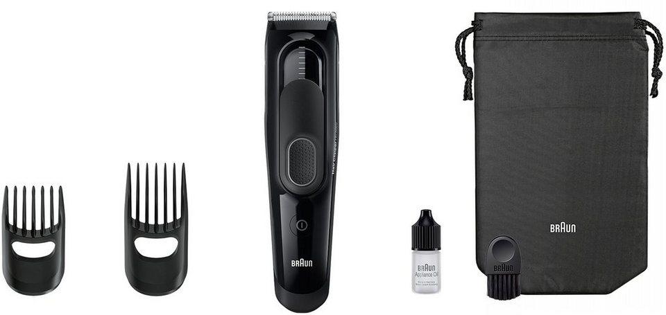 Braun Haarschneider HC5050, 17 Längen, Akku in schwarz