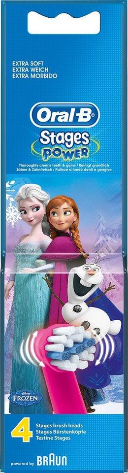 Oral-B Aufsteckbürsten, Stages Power, Disneys »Die Eiskönigin – Völlig unverfroren«, 4er Pack