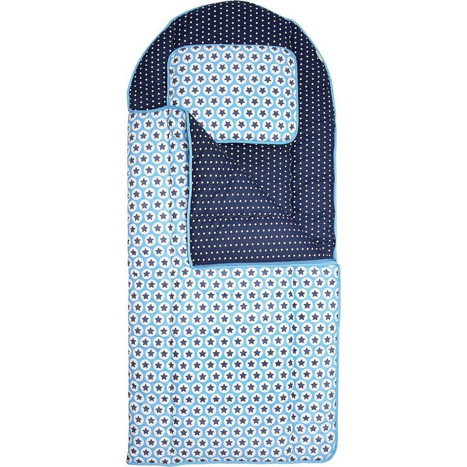 Odenwälder Kinderschlafsack Sterne, 140 cm, blau in blau