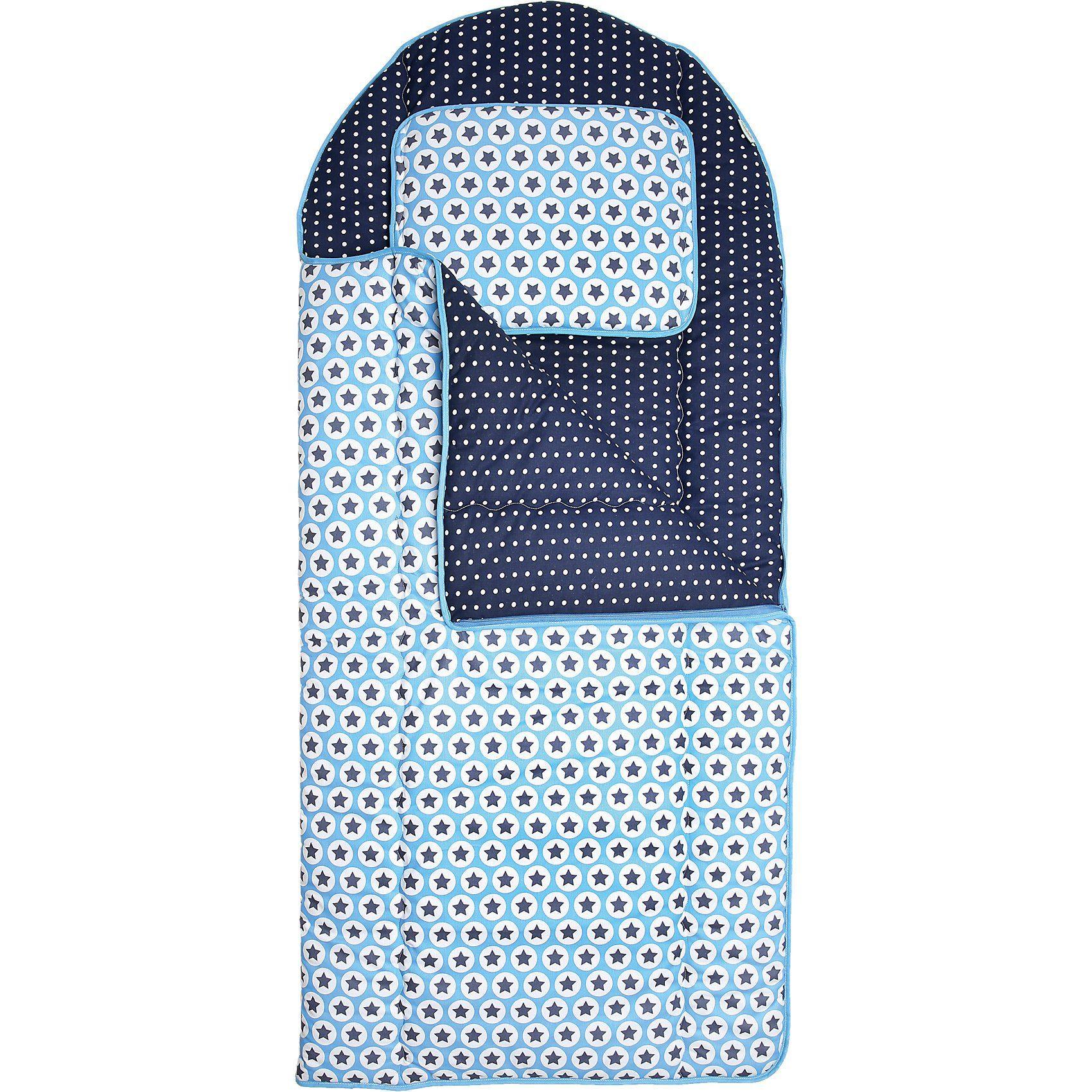 Odenwälder Kinderschlafsack Sterne, 140 cm, blau