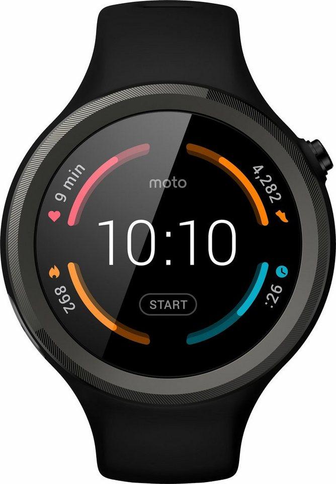 Moto 360 Sport Smartwatch, Android Wear™, 3,5 cm (1,37) AnyLight Hybrid-Display in Schwarz