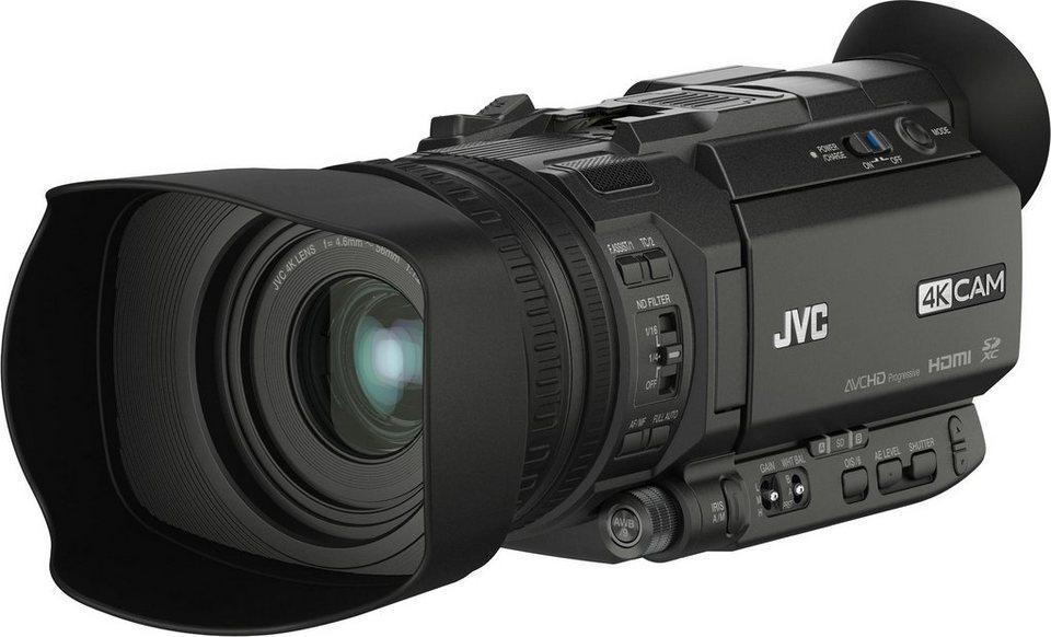 JVC GY-HM170E inkl. Haltegriff (KA-HU1) 4K (Ultra-HD) Camcorder in schwarz