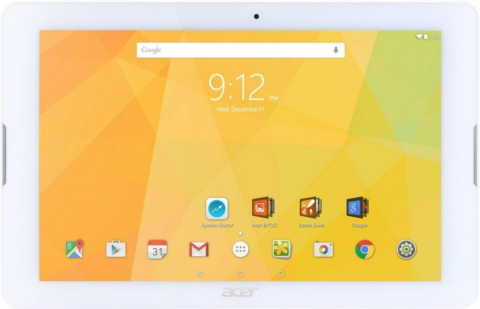 Acer Iconia One 10 B3-A20 Tablet-PC, Android 5.1, Quad-Core, 25,6 cm (10,1 Zoll), 1024 MBDDR3L RAM in weiß