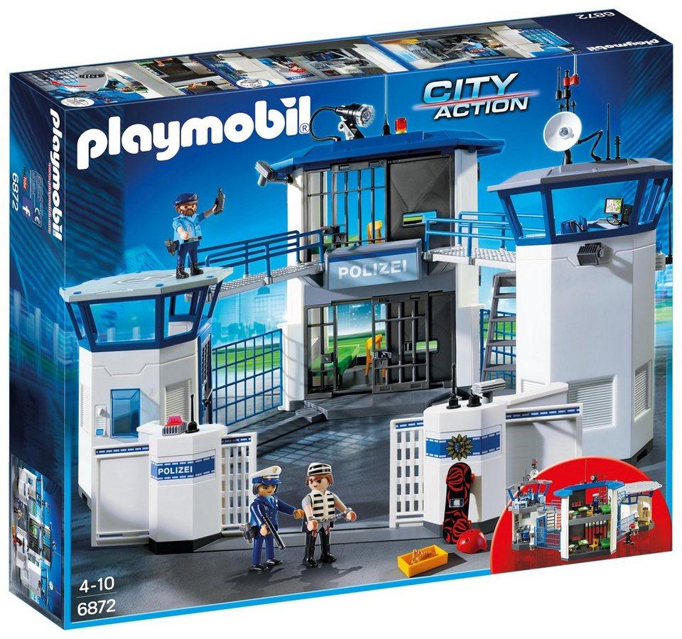 playmobil® polizeikommandozentrale mit gefängnis 6872