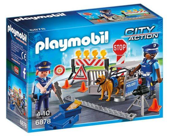 Playmobil® Konstruktions-Spielset »Polizei-Straßensperre (6878), City Action«, Kunststoff