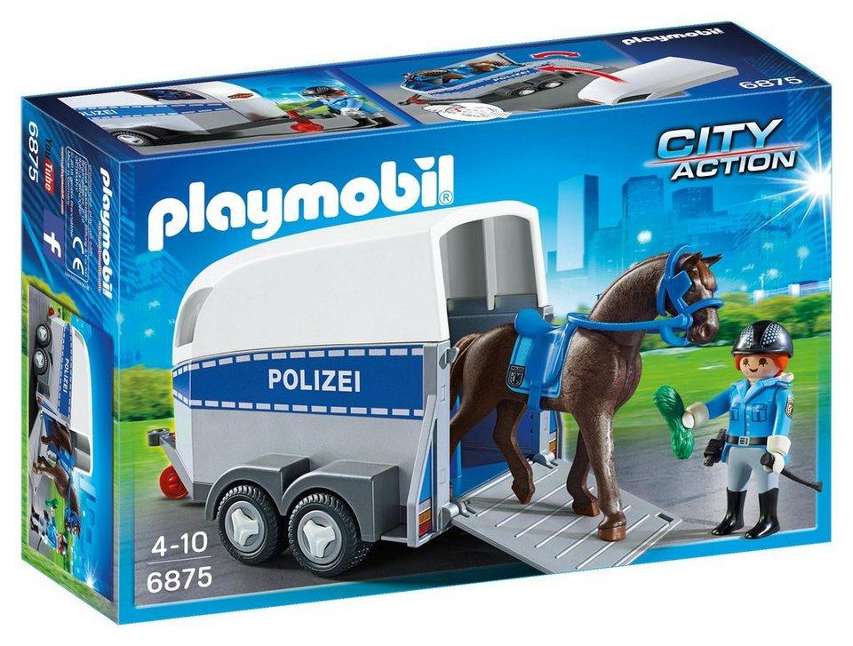 Playmobil® Berittene Polizei mit Anhänger (6875), »City Action«