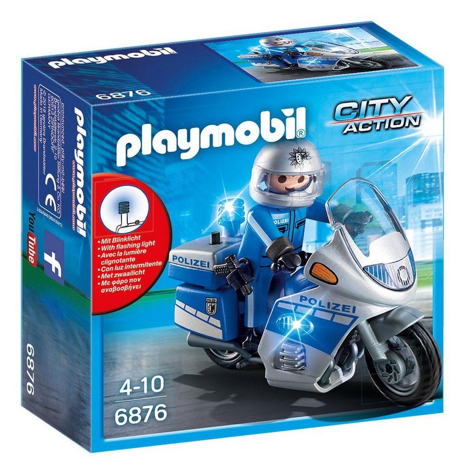 Playmobil® Motorradstreife mit LED-Blinklicht (6876), »City Action«