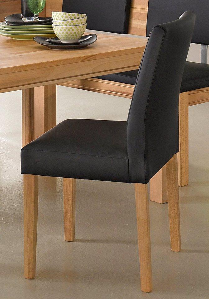 Stühle (2 Stück) in Kernbuche/schwarz