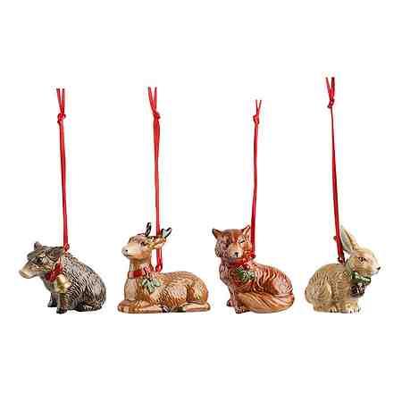 VILLEROY & BOCH Ornamente Waldtiere, Set 4tlg. 5cm »Nostalgic Ornaments«