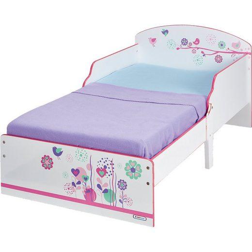 WORLDS APART Kinderbett, Blumen und Schmetterlinge