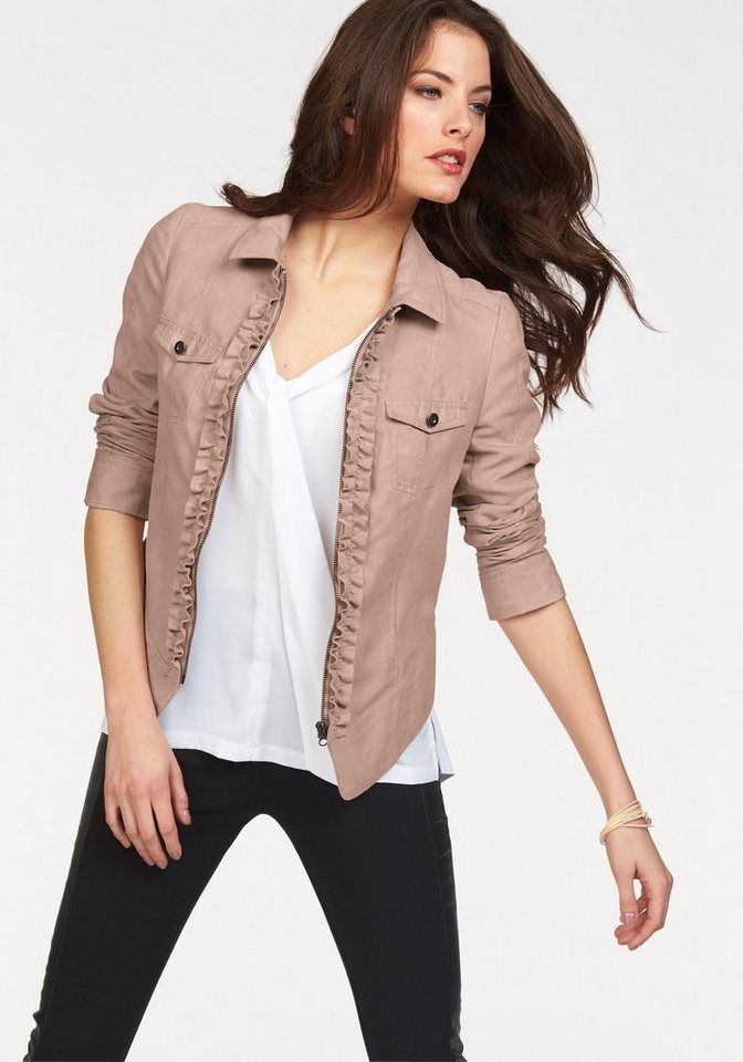 Vivance Lederimitatjacke in rosé