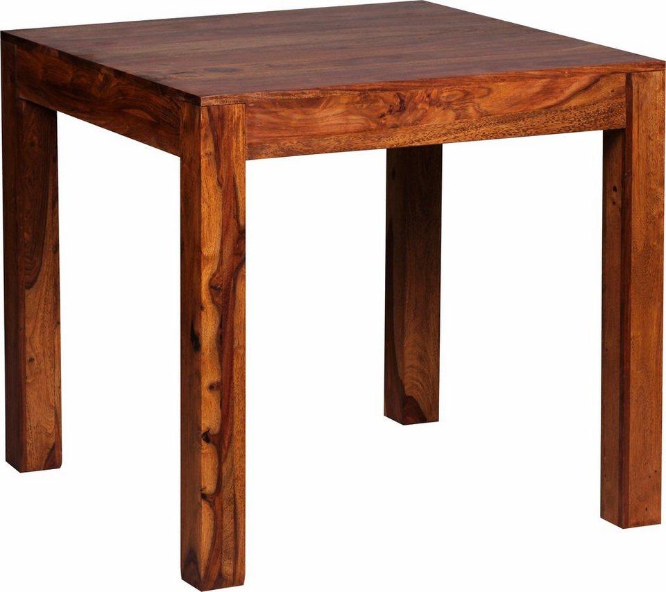 Home affaire Esstisch »Indra« aus massivem Sheeshamholz, in 4 Größen in Sheesham-Holz
