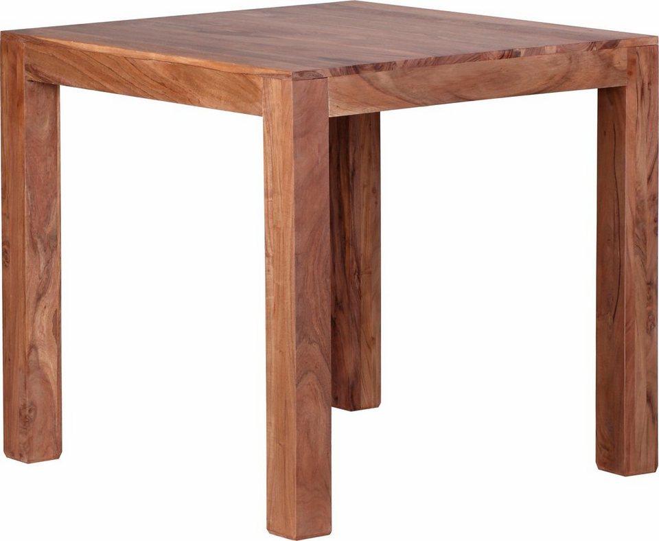Home affaire Esstisch »Indra« aus massivem Akazienholz, in 4 Größen in Akazien-Holz
