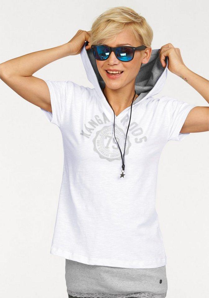 KangaROOS Print-Shirt (Set, 2 tlg., mit Top) in weiß