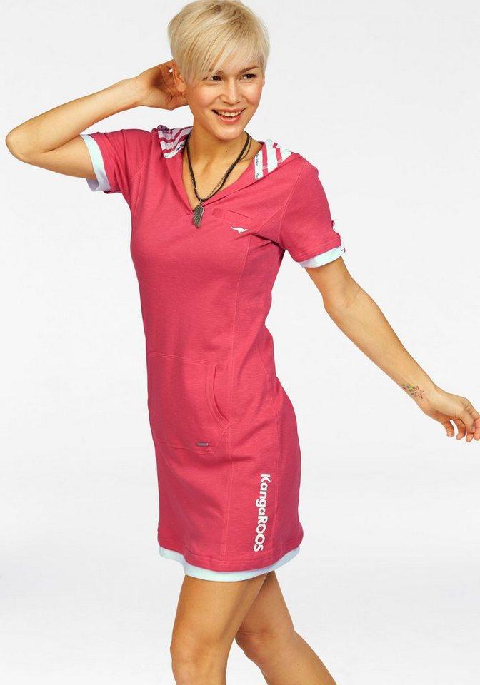 KangaROOS Sweatkleid im 2-in-1-Look in pink