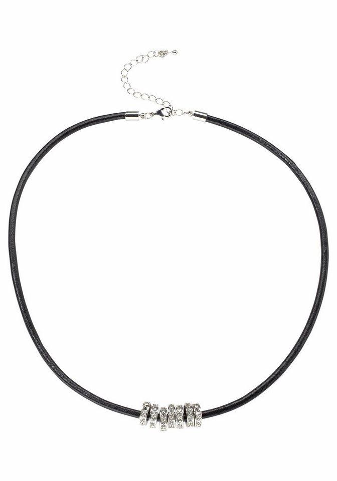 J. Jayz Kette »mit Ringen« in schwarz